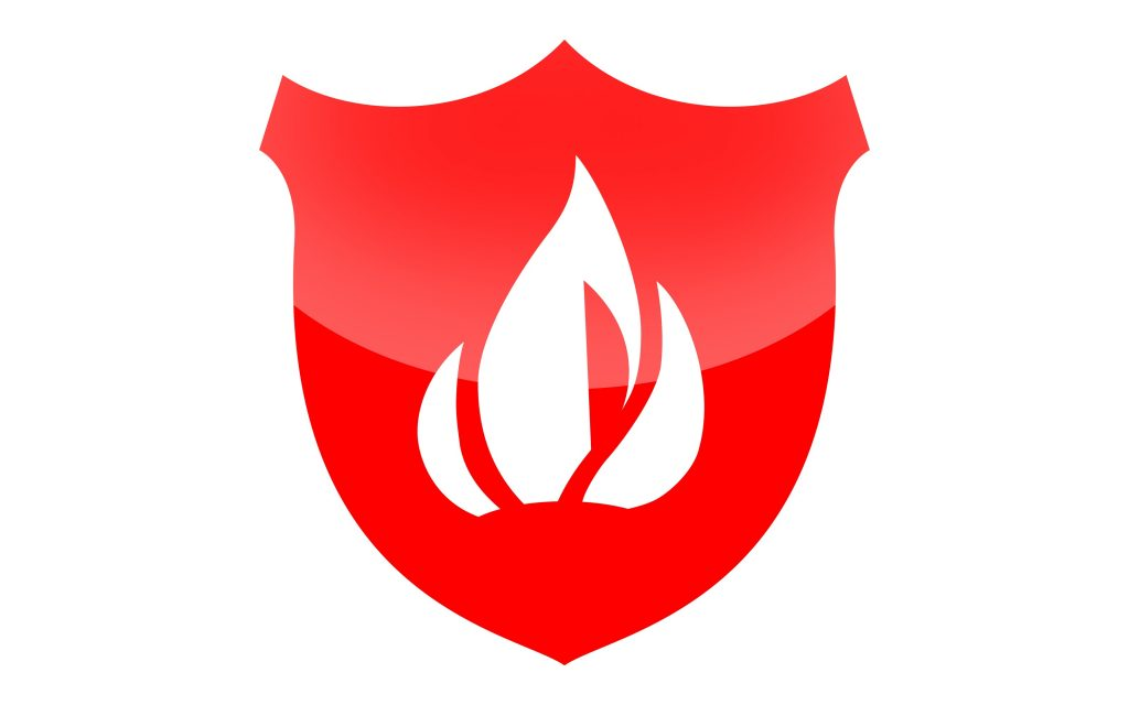 Fire Stopping shield icon